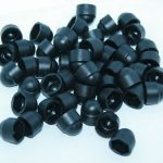 black plastic nut and bolt covers
