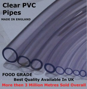 clear PVC Tubing Hose Water Pipe London
